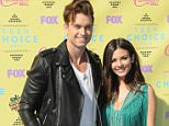 LOS ANGELES, CA - AUGUST 16:  Actor Pierson Fode and actress Victoria Justice arrive at the Teen Choice Awards 2015 at Galen Center on August 16, 2015 in Los Angeles, California.  (Photo by Jon Kopaloff/FilmMagic)