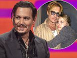 Johnny Depp during filming of the Graham Norton Show at The London Studios, south London ahead of its BBC1 transmission on Friday November 27, 2015. PRESS ASSOCIATION Photo. Picture date: Sunday October 11, 2015. Photo credit should read: PA Images on behalf of So TV