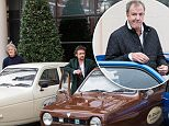 JEFF MOORE 26/11/15\nJeremy Clarkson, James May and Richard Hammond were pictured enjoying a different kind of ride as W. Chump and Sons, the production company behind Amazon Prime's car show featuring the trio, took delivery of its new company cars.
