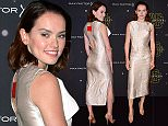 Mandatory Credit: Photo by Nils Jorgensen/REX Shutterstock (5445228a)\n Daisy Ridley\n Star Wars Fashion Finds the Force, London, Britain - 26 Nov 2015\n Star Wars Fashion Finds the Force event in support of Great Ormond Street Hospital Children's Charity on behalf of Force for Change, at Selfridges Old Hotel, London.\n
