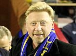 Boris Becker comes the Sky Bet League 2 match between AFC Wimbledon and Dagenham and Redbridge at the Cherry Red Records Stadium, Kingston, England on 24 November 2015. Photo by Stuart Butcher.