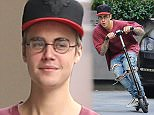 West Hollywood, CA - Justin Bieber enjoys a little down time after grabbing a bite at W Hotel, the young Canadian Popstar took a scooter for a spin around the parking lot and seemed to be in a great mood, sharing a few laughs with his entourage. AKM-GSI      November 24, 2015 To License These Photos, Please Contact : Steve Ginsburg (310) 505-8447 (323) 423-9397 steve@akmgsi.com sales@akmgsi.com or Maria Buda (917) 242-1505 mbuda@akmgsi.com ginsburgspalyinc@gmail.com