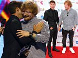 SYDNEY, AUSTRALIA - NOVEMBER 26:  James Blunt presents Ed Sheeran with the ARIA Diamond Award during the 29th Annual ARIA Awards 2015 at The Star on November 26, 2015 in Sydney, Australia.  (Photo by Graham Denholm/Getty Images)