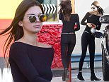 EXCLUSIVE: Stylish Kendall Jenner seen wearing all black while pumping gas in her Range Rover in Los Angeles, CA  Pictured: Kendall Jenner Ref: SPL1184780  251115   EXCLUSIVE Picture by: VIPix / Splash News  Splash News and Pictures Los Angeles: 310-821-2666 New York: 212-619-2666 London: 870-934-2666 photodesk@splashnews.com