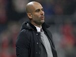 MUNICH, GERMANY - NOVEMBER 24:  Team coach Josep Guardiola of Bayern Muenchen reacts during the Champions League group F match between FC Bayern Muenchen and Olympiacos FC on November 24, 2015 in Munich, Germany.  (Photo by A. Beier/Getty Images for FC Bayern)