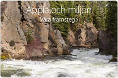 Apple och miljön. Våra framsteg.