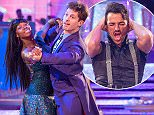 WARNING: Embargoed for publication until 20:10:01 on 21/11/2015 - Programme Name: Strictly Come Dancing 2015 - TX: 21/11/2015 - Episode: n/a (No. n/a) - Picture Shows: **DRESS REHEARSAL** EMBARGOED FOR PUBLICATION UNTIL 20:10 HRS ON SATURDAY 21ST NOVEMBER 2015 Jamelia, Tristan MacManus - (C) BBC - Photographer: Guy Levy