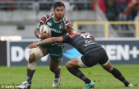 Club man: Manu Tuilagi in action for Leicester