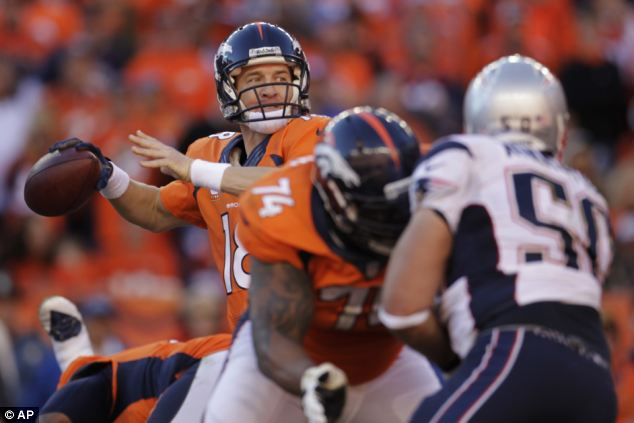 The Superbowl will be played in New Jersey between the Denver Broncos, whose quarterback Peyton Manning is pictured here (left), and the Seattle Seahawks