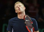 Great Britain's Kyle Edmund rues a missed chance against Belgium's David Goffin during day one of the Davis Cup Final at the Flanders Expo Centre, Ghent. Picture date: Friday November 27, 2015. See PA story TENNIS Davis Cup. Photo credit should read: Andrew Milligan/PA Wire. RESTRICTIONS: Editorial Use only, No commercial use without prior permission, Please contact PA Images for further info: Tel: +44 (0) 115 8447447.