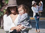 EXCLUSIVE TO INF.   November 25, 2015:  Jenna Dewan steps out in a flowy white blouse and skinny jeans as she brings her daughter Everly Tatum to a Thanksgiving party in Los Angeles, CA. Mandatory Credit: INFphoto.com Ref: infusla-300