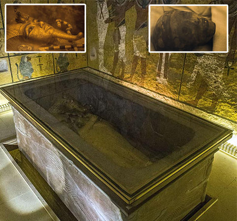Experts believe they have discovered Nefertiti's grave hiding behind a wall in Tutankhamun's tomb