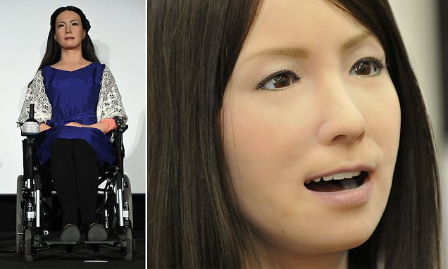 The 'world's sexiest robot' Geminoid F turns heads in China