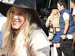 November 27, 2015: Hilary Duff gets some coffee as son Luca Comrie does a little dance, Beverly Hills, CA.\nMandatory Credit: Lek/INFphoto.com Ref.: infusla-294
