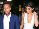 West Hollywood, CA - Kylie Jenner is back with her boyfriend, Tyga, after a short break-up during his birthday.  They were seen arriving together at The Nice Guy for Justin Bieber's party where Kylie leaned on Tyga's shoulder to get out of their limo bus. AKM-GSI          November 22, 2015 To License These Photos, Please Contact : Steve Ginsburg (310) 505-8447 (323) 423-9397 steve@akmgsi.com sales@akmgsi.com or Maria Buda (917) 242-1505 mbuda@akmgsi.com ginsburgspalyinc@gmail.com