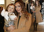 Tamara Ecclestone arrives with her 20 month old daughter Sophia at the House of Fraser in the Gateshead Intu Metro centre to launch her first SHOW Beauty Blow Dry Bar. PRESS ASSOCIATION Photo. Picture date: Monday November 30, 2015. Photo credit should read: Owen Humphreys/PA Wire