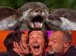 1232816 Benedict Cumberbatch, Johnny Depp and Graham pose as otters  Grabs attached, credit BBC