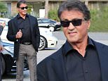 Please contact X17 before any use of these exclusive photos - x17@x17agency.com   PREMIUM EXCLUSIVE - Sylvester Stallone got all dressed up for a bit of shopping and lunch with friends at Cafe Roma in Beverly Hills.  Saturday, November 28, 2015 X17online.com