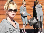 UK CLIENTS MUST CREDIT: AKM-GSI ONLY\nEXCLUSIVE: Beverly Hills, CA - Melanie Griffith looks ready for a workout leaving Maxfield in a all gray outfit.\n\nPictured: Melanie Griffith\nRef: SPL1185794  271115   EXCLUSIVE\nPicture by: AKM-GSI / Splash News\n\n