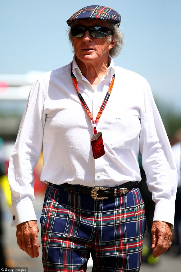 Sir Jackie Stewart fet the need to give Webber  fashion nadvice in the hope he would dispense with T-shirts