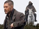 """Picture Shows: Tom Hardy  November 26, 2015    ** Min web / Online fee £500 For Set **    First pictures of English actor Tom Hardy filming his new eight part TV series 'Taboo' in Surrey, England.     The TV show takes place during the early 1800's, when Britain was at war with both the United States and France with 'Taboo' being described as """"A drama show with action.""""     Tom Hardy plays James Keziah Delaney who returns to London after living in Africa for 10 years and builds his own shipping empire while he unravels the mystery left behind by his father.     ** Min web / Online fee £500 For Set **    Exclusive All Rounder  WORLDWIDE RIGHTS  Pictures by : FameFlynet UK © 2015  Tel : +44 (0)20 3551 5049  Email : info@fameflynet.uk.com"""