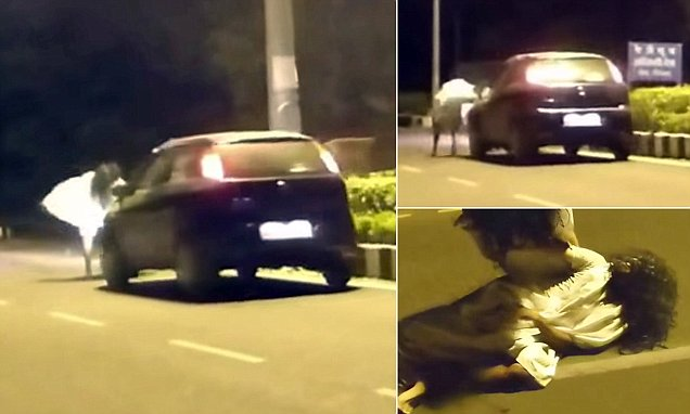Ghost prank goes horribly wrong after panicked driver RUNS OVER man wearing sheet and