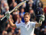 File photo dated 08-07-2015 of England batsman Joe Root celebrates his 100 not out against Australia during the First Investec Ashes Test at the SWALEC Stadium, Cardiff.