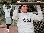 EXCLUSIVE: Maria Shriver and her son do some post Thanksgiving cycling together and workout. Patrick later met his buddies and did the Santa Monica Stairs a few times along with some push ups and pull ups.\n\nPictured: Patrick Schwarzenegger\nRef: SPL1185097  301115   EXCLUSIVE\nPicture by: Splash News\n\nSplash News and Pictures\nLos Angeles: 310-821-2666\nNew York: 212-619-2666\nLondon: 870-934-2666\nphotodesk@splashnews.com\n