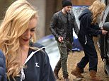 Pics Paul Cousans.\nCorrie..\nStepping out in a one piece Cath Tyldesley does her best to remain hidden \nfrom the cameras as she films scenes with Shayne Ward at an exclusive house in Cheshire.\nspeculation is rife that they are to have an affair on corrie