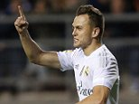 CADIZ, SPAIN - DECEMBER 02:  Denis Cheryshev of Real Madrid celebrates after scoring the opening goal during the Copa del Rey round of 32 first leg match between Cadiz and Real Madrid CF at Estadio Ramon de Carranza on December 2, 2015 in Cadiz, Spain.  (Photo by Angel Martinez/Real Madrid via Getty Images)