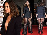 Myleene Klass arriving at the Cosmopolitan Ultimate Woman of the Year Awards at One Mayfair, London. PRESS ASSOCIATION Photo. Picture date: Wednesday December 2, 2015. Photo credit should read: Ian West/PA Wire