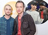 EDITORIAL USE ONLY. NO MERCHANDISING  Mandatory Credit: Photo by Ken McKay/ITV/REX Shutterstock (5470314d)  Daniel Radcliffe and James McAvoy  'Good Morning Britain' TV programme, London, Britain - 03 Dec 2015