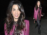 02 DEC 2015  - LONDON  - UK *** EXCLUSIVE ALL ROUND PICTURES *** AMAL CLOONEY SEEN LEAVING CELEB HOT SPOT SEXY FISH RESTAURANT IN MAYFAIR WITH HER GIRLFRIENDS AT 2AM! BYLINE MUST READ : XPOSUREPHOTOS.COM ***UK CLIENTS - PICTURES CONTAINING CHILDREN PLEASE PIXELATE FACE PRIOR TO PUBLICATION *** **UK CLIENTS MUST CALL PRIOR TO TV OR ONLINE USAGE PLEASE TELEPHONE  442083442007