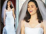 145608, Emmy Rossum spotted in a wedding dress as she gets married on the TV show 'Shameless' filming in LA. Los Angeles, California - Wednesday December 02, 2015.    Photograph: Miguel Aguilar, © PacificCoastNews. Los Angeles Office: +1 310.822.0419 sales@pacificcoastnews.com FEE MUST BE AGREED PRIOR TO USAGE
