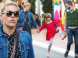 01.DECEMBER.2015 - WEST HOLLYWOOD ñ USA\n*STRICTLY AVAILABLE FOR UK AND GERMANY USE ONLY*\nAMERICAN ACTRESS BUSY PHILIPPS HOLDS HANDS WITH HER DAUGHTER BIRDIE LEIGH SILVERSTEIN AS SHE AND HUSBAND MARC SILVERSTEIN TAKE HER CHRISTMAS SHOPPING AT THE GROVE IN WEST HOLLYWOOD. BIRDIE ATTEMPTED TO KICK MARC IS HIS REAR END AS BUSY HAD A LAUGH WHILE THE THREE ENJOYED EACH OTHERS COMPANY AS A FAMILY.\nBYLINE MUST READ : XPOSUREPHOTOS.COM\n***UK CLIENTS - PICTURES CONTAINING CHILDREN PLEASE PIXELATE FACE PRIOR TO PUBLICATION ***\n*UK CLIENTS MUST CALL PRIOR TO TV OR ONLINE USAGE PLEASE TELEPHONE 0208 344 2007*