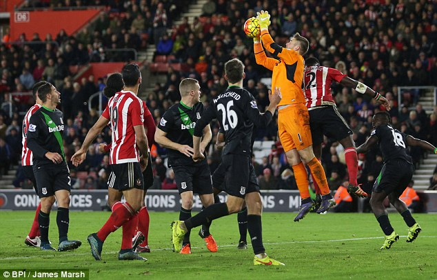 Butland has five clean sheets in six league matches while Stoke have not conceded away since September