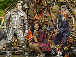 """This Nov. 30, 2015, image released by NBC shows Ne-Yo as Tin-Man, from left, Shanice Williams as Dorothy and Elijah Kelley as Scarecrow during a dress rehearsal of """"The Wiz Live!' in New York. (Virginia Sherwood/NBC via AP)"""