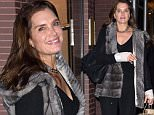 EXCLUSIVE: Brooke Shields out for lunch with friends at Nello in NYC. She recently had surgery on both of her wrists for carpal tunnel. \n\nPictured: Brooke Shields\nRef: SPL1187751  031215   EXCLUSIVE\nPicture by: Ron Asadorian / Splash News\n\nSplash News and Pictures\nLos Angeles: 310-821-2666\nNew York: 212-619-2666\nLondon: 870-934-2666\nphotodesk@splashnews.com\n