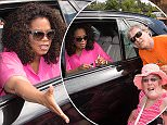 Oprah arrives at the Entertainment centre in Adelaide