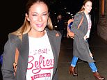 """EXCLUSIVE: Leann Rimes was spotted out in NYC on Wednesday as she dined with friends. She showed off her Christmas spirit in a shirt that said ' I Still Believe in Santa"""" . She looked great in ripped jeans and a Grey coat to finish her chic outfit.\n\nPictured: Leann Rimes\nRef: SPL1188326  021215   EXCLUSIVE\nPicture by: 247PAPS.TV / Splash News\n\nSplash News and Pictures\nLos Angeles: 310-821-2666\nNew York: 212-619-2666\nLondon: 870-934-2666\nphotodesk@splashnews.com\n"""