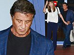 02.DECEMBER.2015 - MIAMI - USA ACTION STAR AND DIRECTOR SYLVESTER STALLONE WITH HIS WIFE JENNIFER FLAVIN SEEN LEAVING ART BASEL IN MIAMI BYLINE MUST READ : XPOSUREPHOTOS.COM ***UK CLIENTS - PICTURES CONTAINING CHILDREN PLEASE PIXELATE FACE PRIOR TO PUBLICATION*** UK CLIENTS MUST CALL PRIOR TO TV OR ONLINE USAGE PLEASE TELEPHONE 0208 344 2007