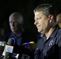 San Bernardino Police Lt. Mike Madden, who was one one of the first officers on scene, describes his experience during a news conference near the site of a mass shooting on Thursday, Dec. 3, 2015 in San Bernardino, Calif.  A husband and wife opened fire on a holiday banquet, killing multiple people on Wednesday. Hours later, the couple died in a shootout with police. (AP Photo/Chris Carlson)