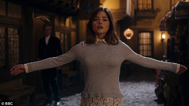 Facing the raven: Jenna Coleman has played the Doctor's companion, Clara Oswald, since 2012, but finally fell victim to the dangers that come with the job on Saturday