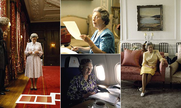 Photos of the Queen show the monarch working through her red boxes