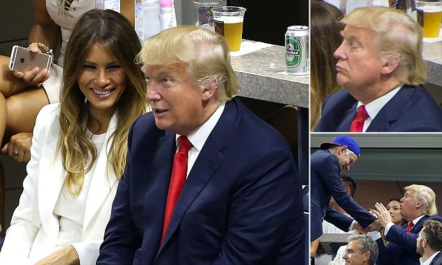 Donald Trump and wife Melania attend US Open but arrives to booing