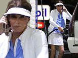 Please contact X17 before any use of these exclusive photos - x17@x17agency.com   Athletic Caitlyn Jenner sporting sexy golf outfit at gas station in Los Angeles. The transgender reality star is a passionate golfer X17online.com