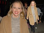 Mandatory Credit: Photo by REX Shutterstock (5479833c)\n Kimberley Walsh leaving the Dominion Theatre after performing in Elf the Musical\n Kimberley Walsh out and about, London, Britain - 05 Dec 2015\n \n