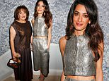 Mandatory Credit: Photo by Richard Young/REX Shutterstock (5470346eo)  Baria Alamuddin and Amal Clooney  Charlotte Tilbury's 'Naughty Christmas Party' flagship store launch, London, Britain - 03 Dec 2015