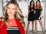 December 7, 2015: Victoria's Secret models Behati Prinsloo and Taylor Hill made an appearance at AOL Build in New York City.\nMandatory Credit: Zelig Shaul/ACE/INFphoto.com\nRef: infusny-220