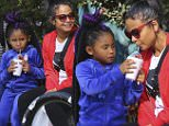 Christina Milian and her daughter Violet Nash are seen at the Farmers Market in Studio City, California with Christina's sister, Lizzy Milian and her boyfriend Dom.\n\nPictured: Violet Nash, Christina Milian\nRef: SPL1190917  061215  \nPicture by: Splash News\n\nSplash News and Pictures\nLos Angeles: 310-821-2666\nNew York: 212-619-2666\nLondon: 870-934-2666\nphotodesk@splashnews.com\n